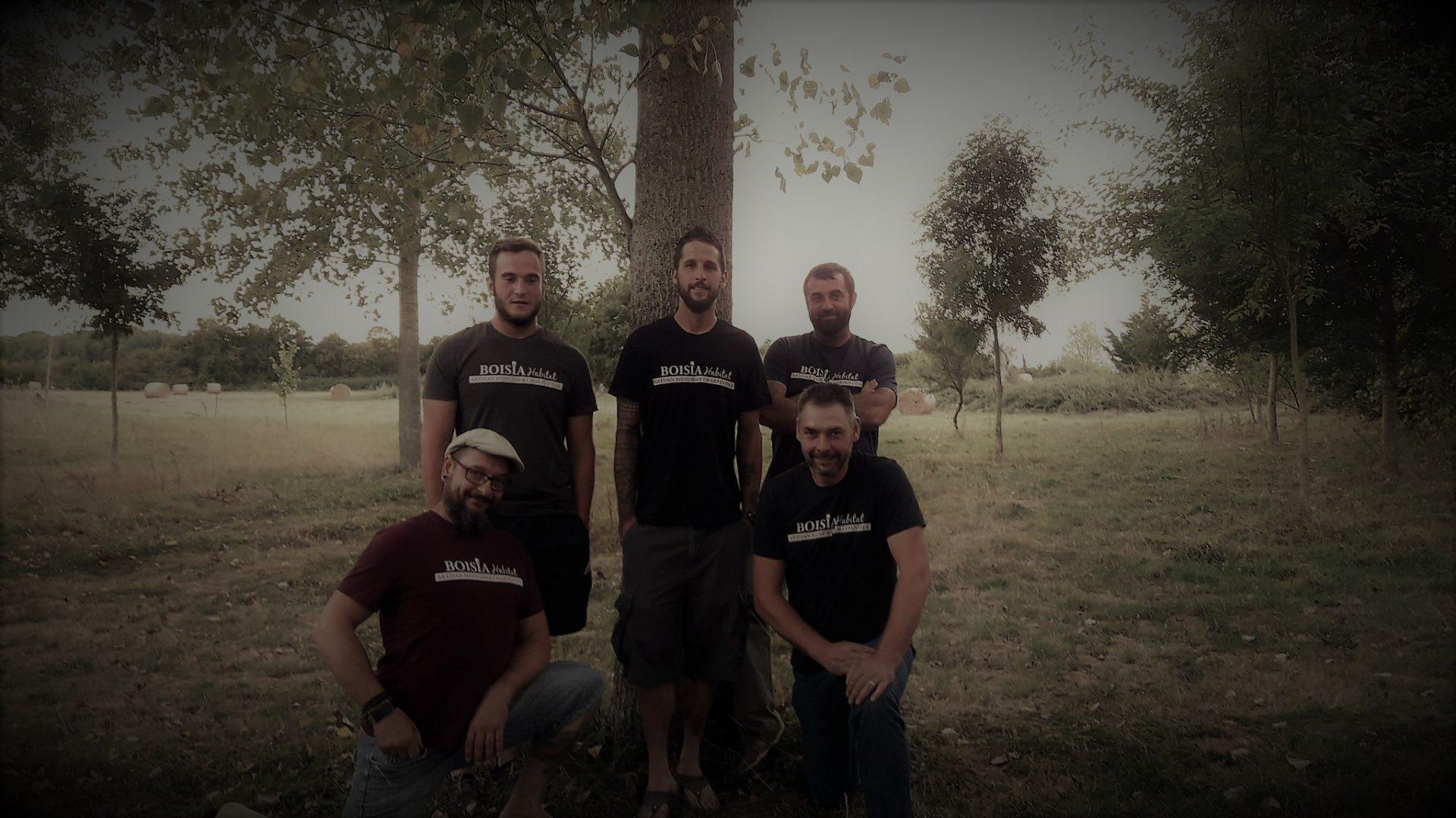 L'équipe de Boisia-Habitat, menuisier, charpentiers