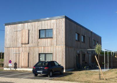 4 logement sociaux isolation paille (soye en septaine 18)