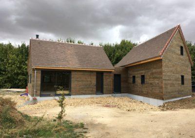 réalisation d'une seconde maison en ossature bois (Sainte Lunaise-18)