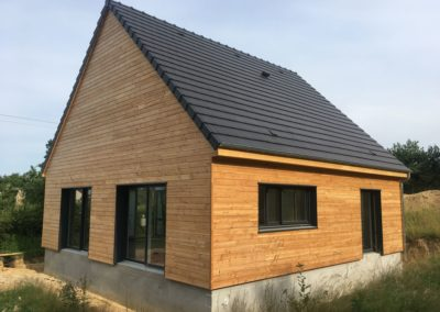 construction d'une maison en ossature bois (Luthenay-Uxeloup-58)