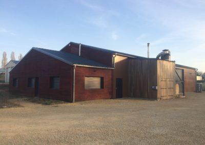 Création de nos nouveaux locaux en ossature bois (La Guerche 18)