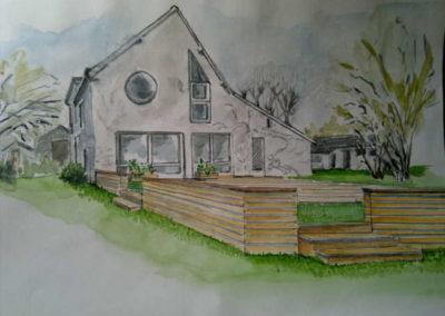 Terrasse en chêne (Bourges 18)